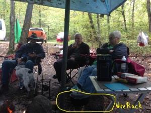 2015-10-11_TNTumblingCreek_Visitors(BringingStrawberryIceCream)LookAtCampfire-and-WireRack